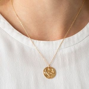 Gold Mothers Day Necklace- Heart & Infinity Symbol